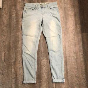 Size 9 soft cuffed skinny jeans